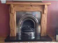 Solid Mexican pine fireplace surround