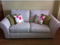 NEXT sofa, armchair and foot stool