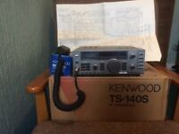Kenwood TS1405 transceiver with mic and original manual