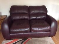 Leather 2-seater sofa in very good condition