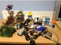JOB LOT ACQUARIUM ACCESSORIES AND PRODUCTS