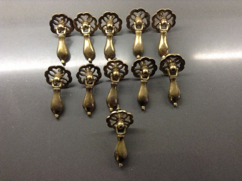 Solid brass cabinet handles