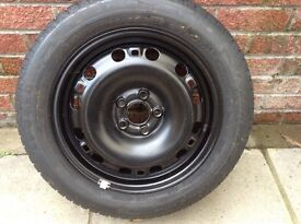 Seat Ibiza brand new steel wheel and tyre