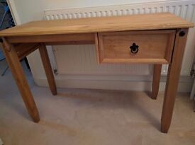Traditional Style Solid Pine Writing Desk