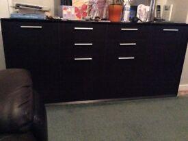 Large dark brown sideboard