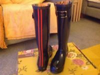 Joules Navy Posh Wellies New Abbeydale Gloucester £28