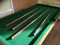 Half size snooker table free