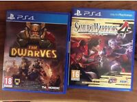 2 PS4 games for sale.