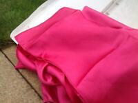 Wedding - fuchsia pink satin chair sashes