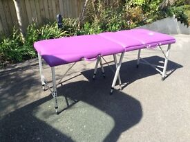 MASSAGE COUCH DARLEY PORTABLE WITH CARRY CASE PURPLE