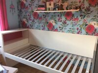 Single bed/day bed plus storage headboard plus mattress