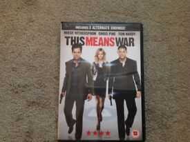 This means war DVD! In great condition