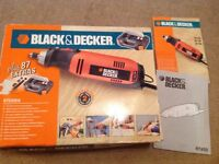 Black and decker multi purpose tool kit RT 650 plus accessories. Excellent co diction.