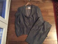 Armani Collezione size 40 grey pinstripe suit for an Occasion