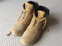 Men steel toe cap boots