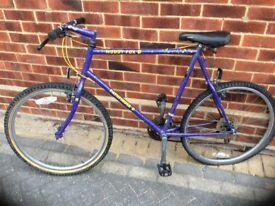 Bike and a bike frame the back wheel of the bike needs to be fixed.