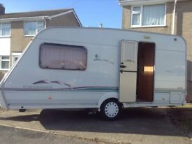 Swift Charisma two birth caravan, with awning and many extras