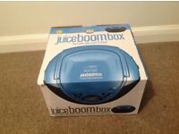 Juice Boombox CD and Audio player. Used once. Purchased at Christmas for £40.