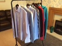 Bundle of designer shirts/hoodies. Ralph Lauren, Tommy Hilfiger, Fred Perry, size S/M