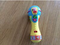 Peppa pig toy microphone