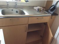Sink and 1000mm sink base, beech