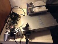 Ps2 console and games satin silver