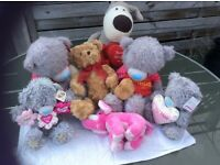 Bundle of soft toys, me to you bears etc