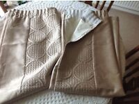 Lined Curtains 165cm wide x 136cm drop in Gold