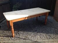 Large 8-10 seater farmhouse table with a stripped top -can deliver