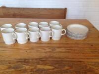 10 x POOLE POTTERY COFFEE CUPS AND SAUCERS.
