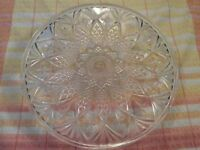 Clear Glass Large Pedestal Cake Stand.