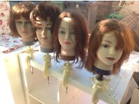 Hairdressers mannequin 4 different