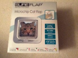 Cat flap, microchip activated