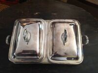 Silver vegetable serving dish