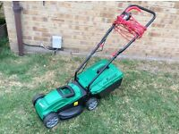 VERY CLEAN 1200W QUALCAST CORDED ELECTRIC ROTARY LAWN MOWER / LAWNMOWER