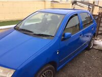 2002 SKODA FABIA low mileage, MOTED, £600 ono. PRICE REDUCED!!!!!