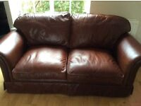 For Sale Laura Ashley Antique leather sofa.