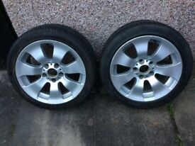 3 SERIOUS BMW ALLOY WHEELS AND TYRES FOR SALE