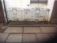 Double drive way and matching single garden gate