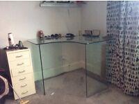John Lewis Glass corner desk