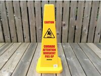 Wet Floor Signs - Commercial Large Multi Lingual Safety Cones 129YL Brand New £12 each -Only 8 left.