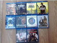 Blu Ray Film Bundle X10 Films All Top Titles Action Horror