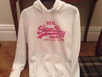 Ladies white superdry hoody