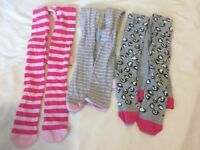 Girls Marks and Spencer Patterened Tights 9 - 10
