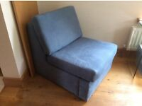 Chair unfolds to single bed