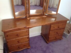 Ducal dressing table and mirror for sale