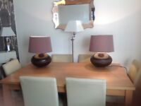 Large multi purpose frying pan used once 2 large table lamps