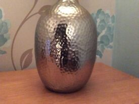 Laura Ashley silver hammered table lamp bases