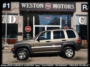 2004 Jeep Liberty LIMITED *4X4 *LEATHER *SUNROOF *PRICED TO SELL