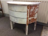 Small curved chest of drawers